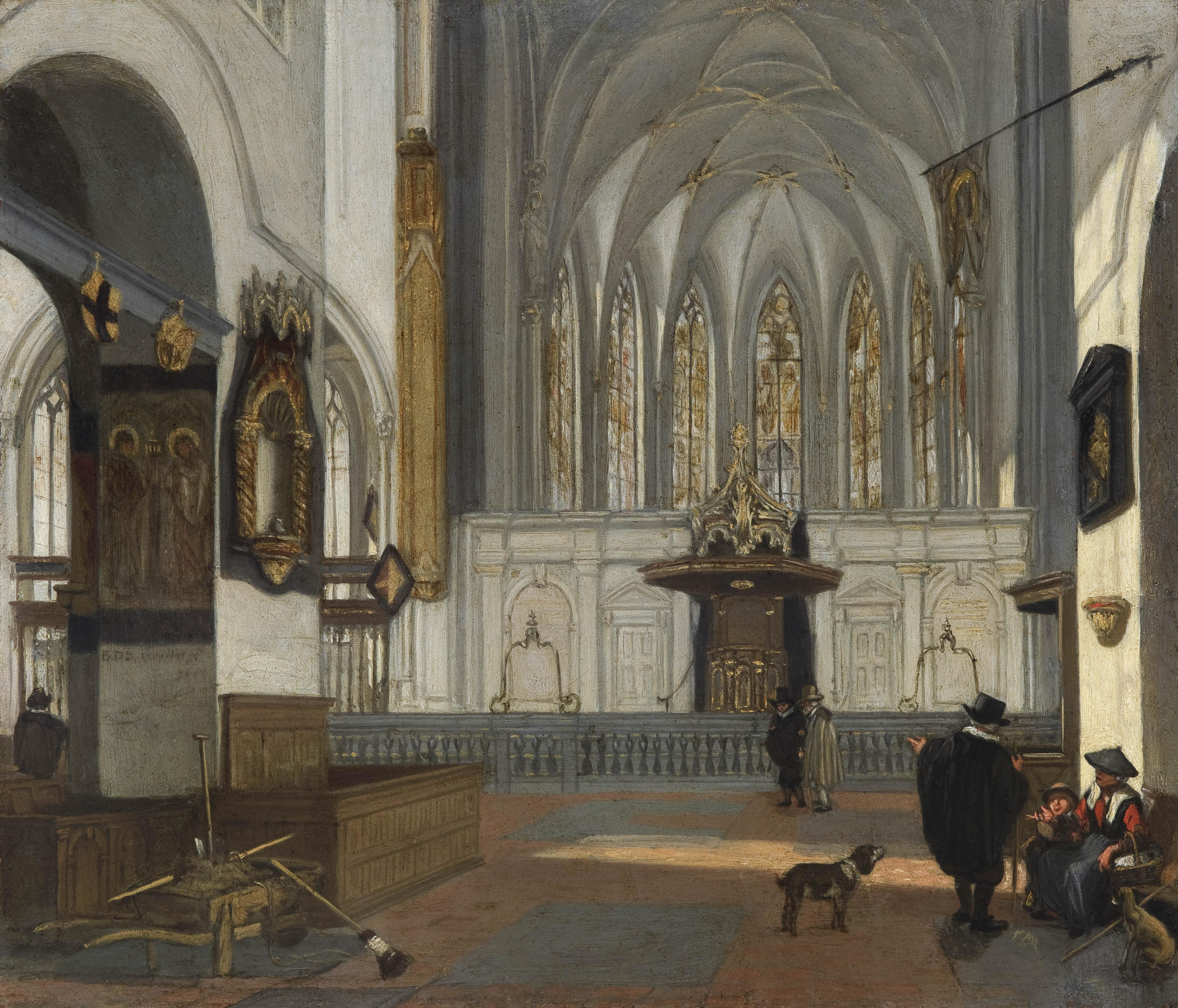 54 emanuel de witte alkmaar 1617 1692 amsterdam view of the choir of